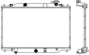 Радиатор охлаждения двигателя Mazda PE0115200