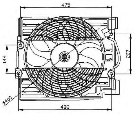 Вентилятор охлаждения двигателя NRF 47029