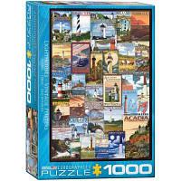 Пазл EuroGraphics Маяки. Старинные плакаты, 1000 элементов (6000-0779)
