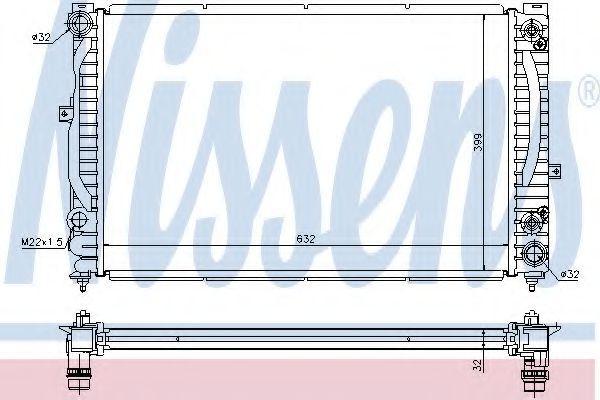 Радиатор Nissens 60228A