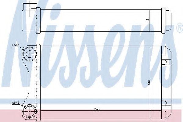Радиатор отопителя Nissens 70226