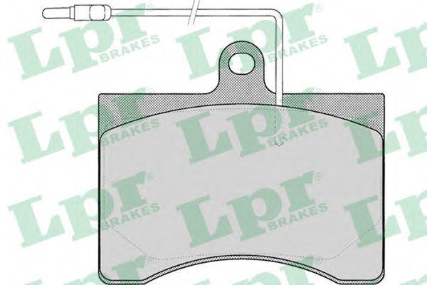 Колодки тормозные дисковые LPR 05P008