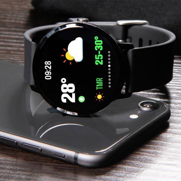Smart Watch часы V11, Фитнес часы с IPS дисплеем, тонометр, пульсометр, шагомер Черные ave