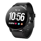 Smart Watch часы V11, Фитнес часы с IPS дисплеем, тонометр, пульсометр, шагомер Черные ave, фото 2