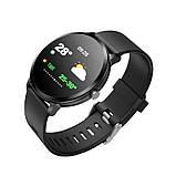 Smart Watch часы V11, Фитнес часы с IPS дисплеем, тонометр, пульсометр, шагомер Черные ave, фото 4