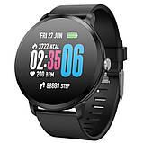 Smart Watch часы V11, Фитнес часы с IPS дисплеем, тонометр, пульсометр, шагомер Черные ave, фото 8