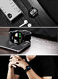 Smart Watch часы V11, Фитнес часы с IPS дисплеем, тонометр, пульсометр, шагомер Черные ave, фото 9
