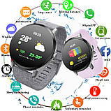 Smart Watch часы V11, Фитнес часы с IPS дисплеем, тонометр, пульсометр, шагомер Черные ave, фото 10