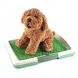 Туалет для собак Puppy Potty Pad 47х34х6 лоток для щенков горшок трава ave, фото 2