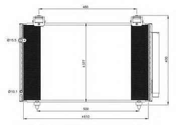 Радиатор кондиционера Toyota 8845002240