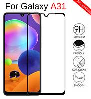 Защитное стекло 3D для Samsung Galaxy A31 A315F черное (самсунг а31)