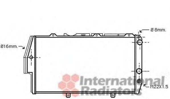 Радіатор Van Wezel 03002020
