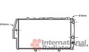 Радиатор Van Wezel 03002020