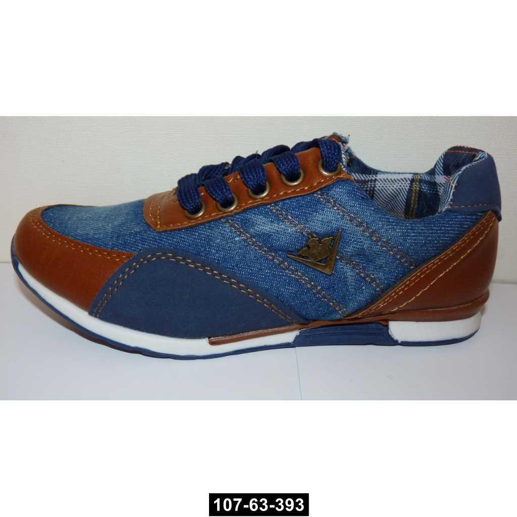 Джинсовые кроссовки, 30 размер, кожаная стелька, супинатор, 107-63-393