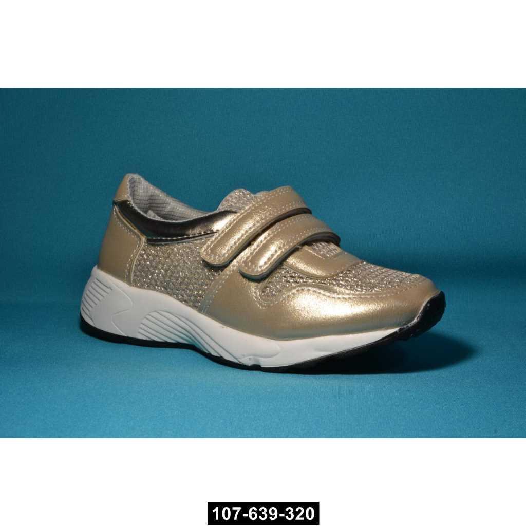 Дышащие кроссовки, слипоны для девочки, 32-36 размер, супинатор, кожаная стелька, 107-639-320