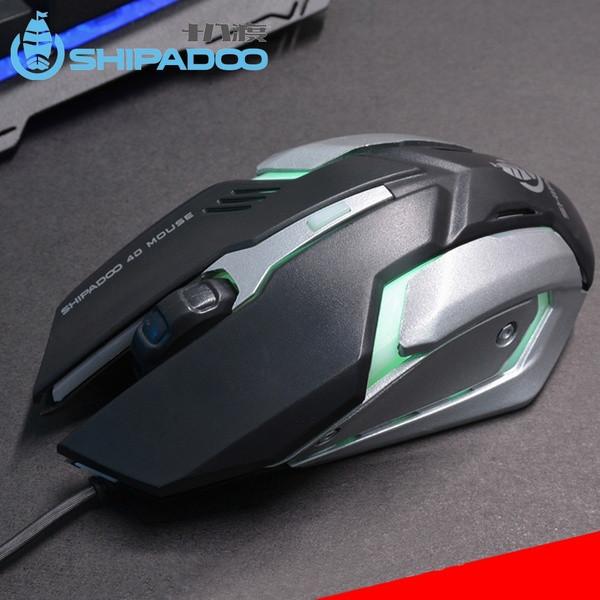 """Компьютерная USB Мышь S150 со светодиодным светом 2400 dpi, игровая мышка """"SHIPADOO"""" ave"""