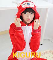 Пижама кигуруми красная лиса костюм