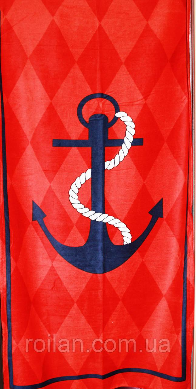 Пляжное полотенце Якорь