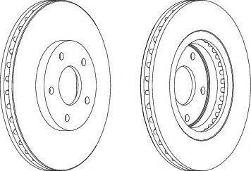 Тормозной диск Nissan 402061KC1A
