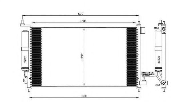 Радиатор кондиционера Nissan 92100AX80B