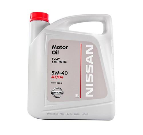 Масло моторное синтетическое 5w-40, 5л Nissan KE90090042R