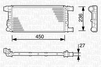 Радиатор охлаждения двигателя Magneti Marelli 350213103003