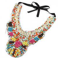 Ожерелье-воротник Эльвира P001573 разноцветное