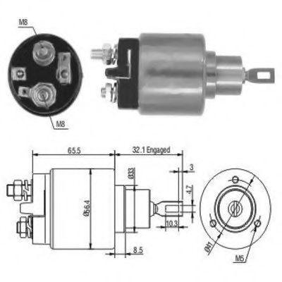 Втягивающее реле стартера Bosch 0331303071