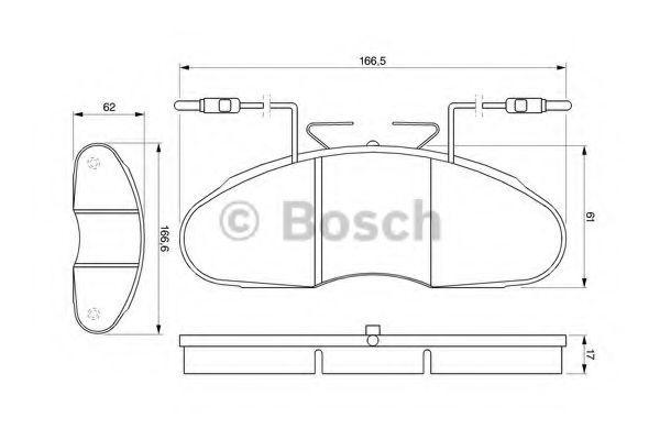 Колодки тормозные дисковые задние, комплект Bosch 0986424080
