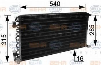 Радиатор кондиционера Hella 8FC351036041