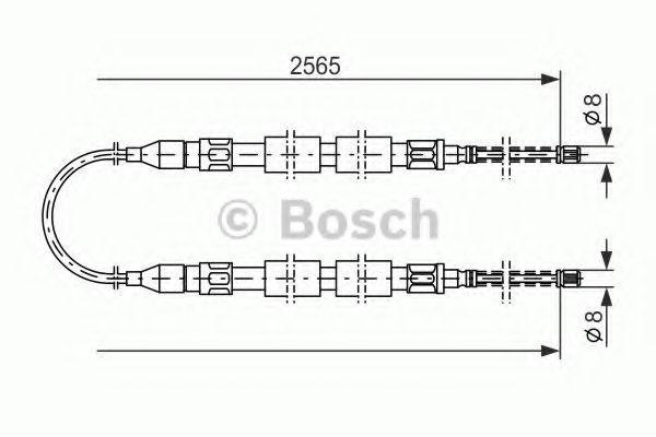 Трос стояночного тормоза Bosch 1987477041