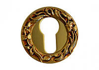 Накладка под цилиндр/ключ Linea Cali (на 113 розетке) французское золото