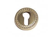 Накладка под цилиндр/ключ Linea Cali (на 009 розетке) античное серебро