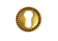 Накладка под цилиндр/ключ Linea Cali (на 009 розетке) французское золото