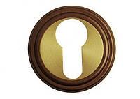 Накладка под цилиндр/ключ Linea Cali (на 011 розетке) бронза (ВО)