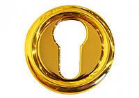 Накладка под цилиндр/ключ Linea Cali (на 103 розетке) золото полированное