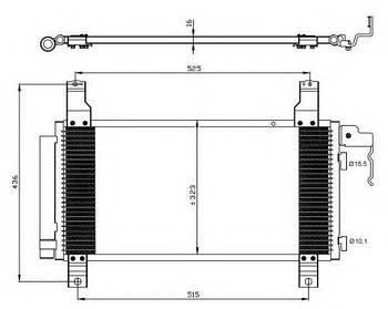 Радиатор кондиционера Mazda GJYA6148ZA