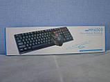 Русская беспроводная клавиатура + мышка HK6500 с адаптером ave, фото 7