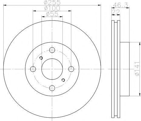 Диск гальмівний ADVICS A6F116