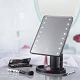 Зеркало настольное с подсветкой LED - бренд Large Led Mirror ave, фото 2