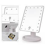 Зеркало настольное с подсветкой LED - бренд Large Led Mirror ave, фото 6