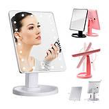 Зеркало настольное с подсветкой LED - бренд Large Led Mirror ave, фото 7