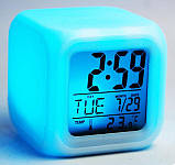 Светящиеся часы будильник термометр ночник хамелеон ave, фото 2
