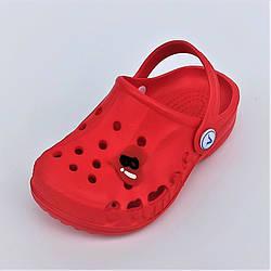 Детские красные кроксы мальчик,  Vitaliya размер 20 22 24 28 30 32