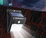 Светодиодный Навесной фонарь с датчиком движения 609 + solar 20 диодов ave, фото 6