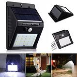 Светодиодный Навесной фонарь с датчиком движения 609 + solar 20 диодов ave, фото 8
