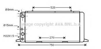 Радиатор охлаждения двигателя AVA AI2026