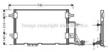 Радиатор кондиционера AVA AI5137