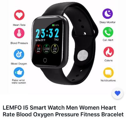 Смарт-часы, фитнес браслет 2 в 1 с измерением пульса и давления