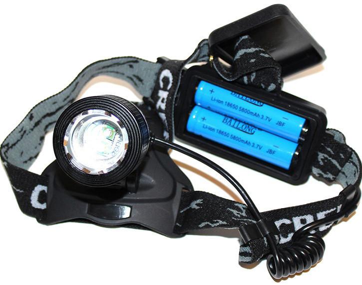 Налобный аккумуляторный фонарь фонарик Police Bailong BL-2199 T6 диод ave
